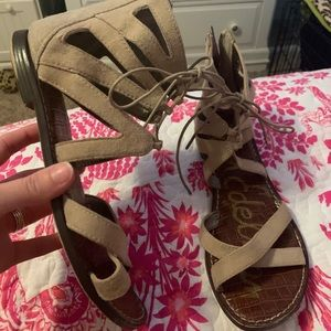 Sam Edelman tie up shoes